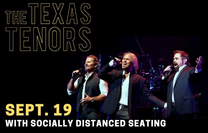 The Texas Tenors Socially Distanced Seating