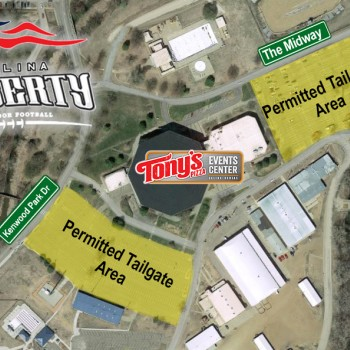 Tailgate Map Tony's Pizza Events Center